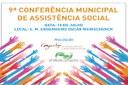 Abertas as inscrições para a 9ª Conferência de Assistência Social