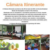 Câmara Itinerante - Bairro Vila Andreza