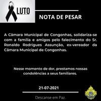 """Nota de Pesar - Ronaldo """"Batatinha""""."""