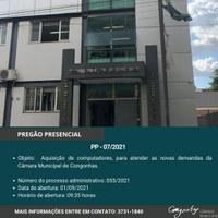 Pregão Presencial 07/2021